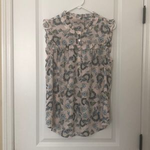 Loft Sleeveless Blouse, Large, EUC